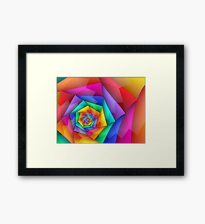 Fractured Rainbow Framed Print