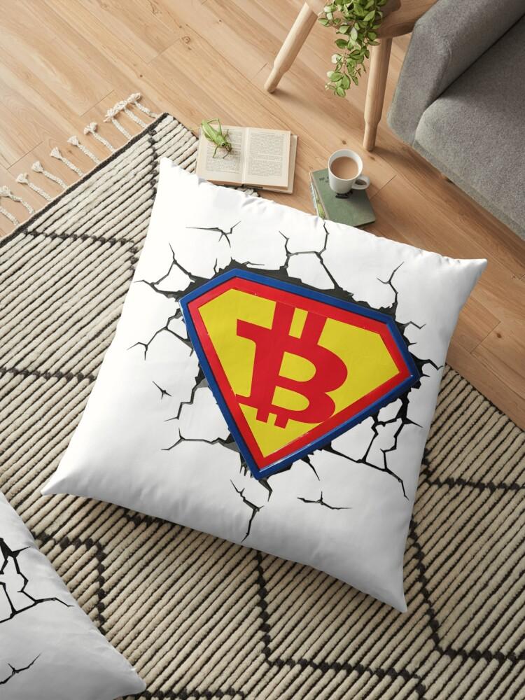 Weinlese-Bitcoin-Logo HODL Superheld-T-Shirt von Palette& Co