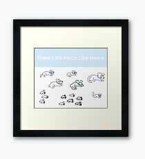 There's No Place Like Home - Backyard Of Pets Framed Print
