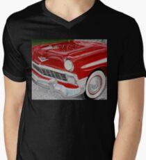 Chrome King, 1956 Chevy Bel Air Men's V-Neck T-Shirt