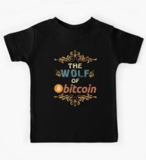 Bitcoin Shirt The Wolf Of Bitcoin HODL Vintage Retro Tshirt  Kids Clothes