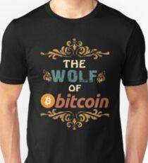 Bitcoin Hemd Der Wolf von Bitcoin HODL Vintages Retro T-Shirt Slim Fit T-Shirt