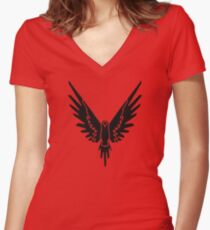 Black Bird Logan Women's Fitted V-Neck T-Shirt
