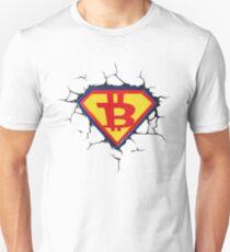 Weinlese-Bitcoin-Logo HODL Superheld-T-Shirt Slim Fit T-Shirt