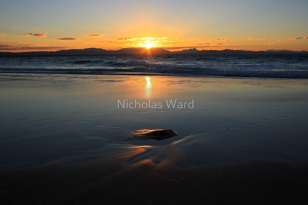 Sunset at Watego's Beach VI by Nicholas Ward
