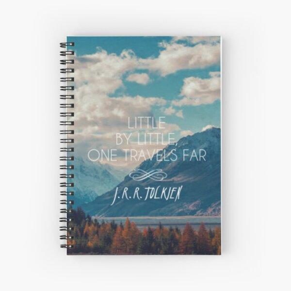 little by little one travels far- j.r.r.tolkien Spiral Notebook