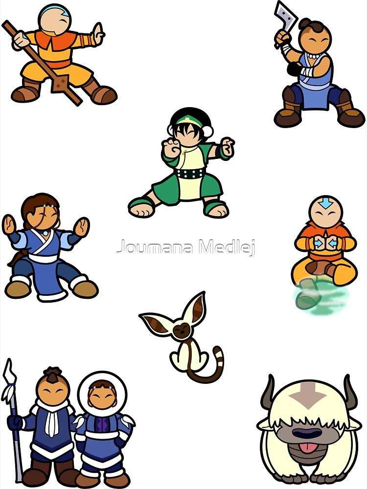 ATLA Mini Stickers: Gaang by Cedarseed