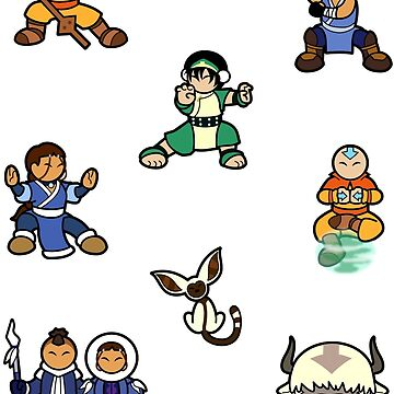 ATLA Mini Stickers: Gaang by Cedarseed