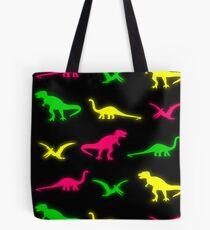 Neon Dinosaurs Tote Bag