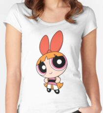 Blossom (The Powerpuff Girls) Women's Fitted Scoop T-Shirt
