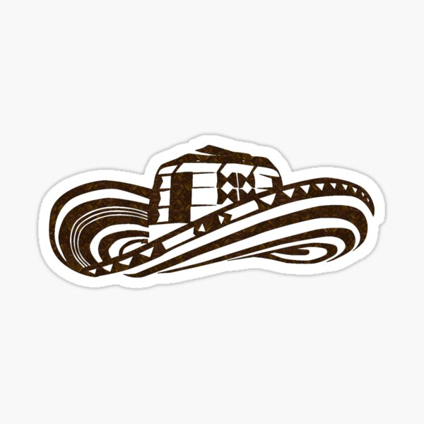 Colombian Sombrero Vueltiao (Coffee Bean Drawing) Sticker