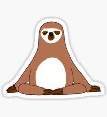Funny Sloth Yoga Meditation Tshirt Gift Sticker