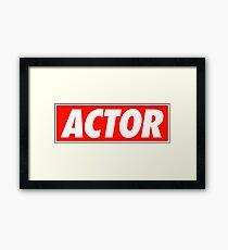 Actor - Shirt Framed Print