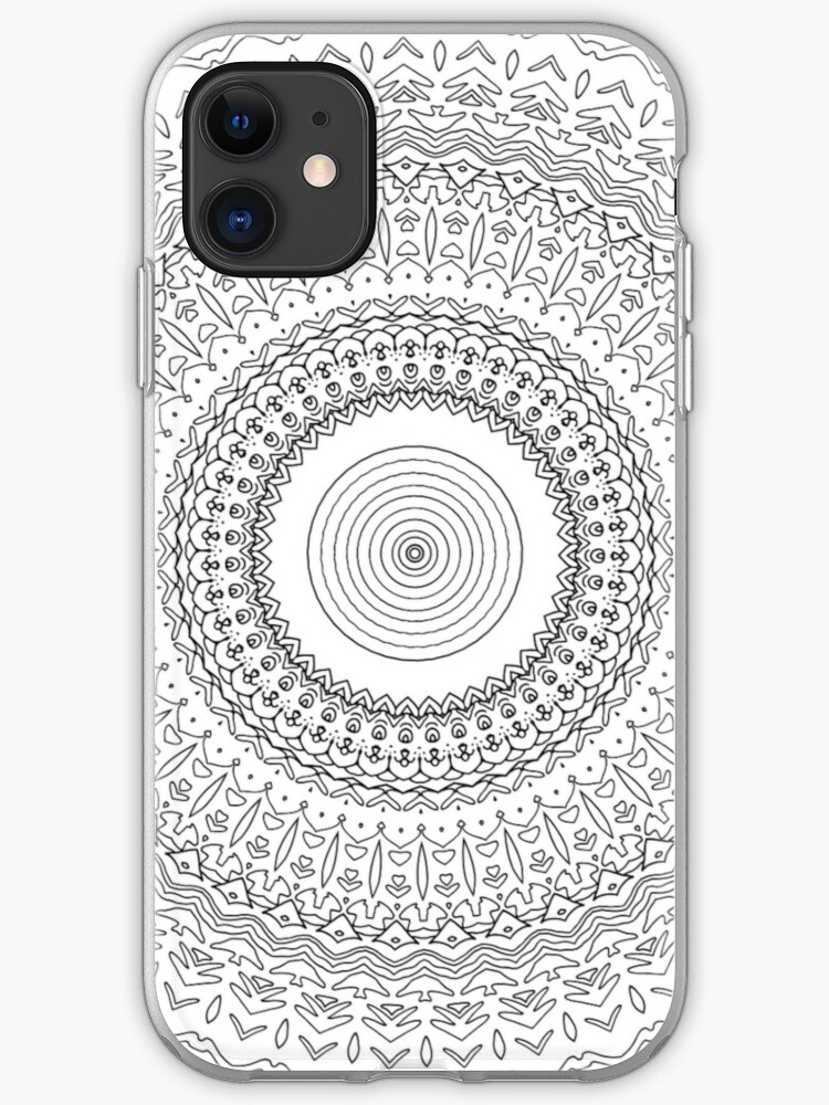 Adult Coloring Page Iphone Case Cover By Yuna26 Redbubble