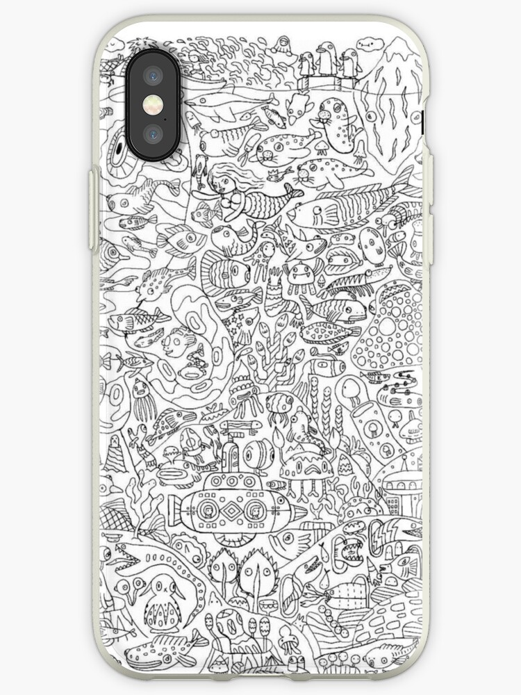 Adult Coloring Page Iphone Cases Covers By Yuna26 Redbubble