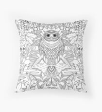 Coloring for adult: owl Floor Pillow