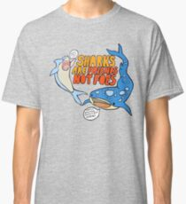 sharks are friends, not foes Classic T-Shirt