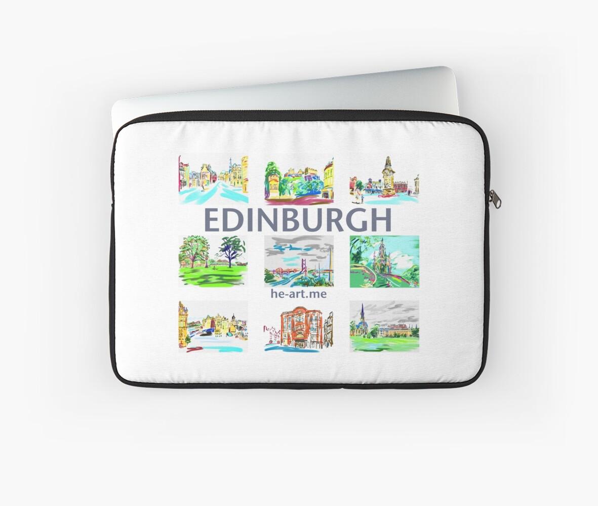 Edinburgh in a panel of 9 at full colour  by Helen Imogen Field