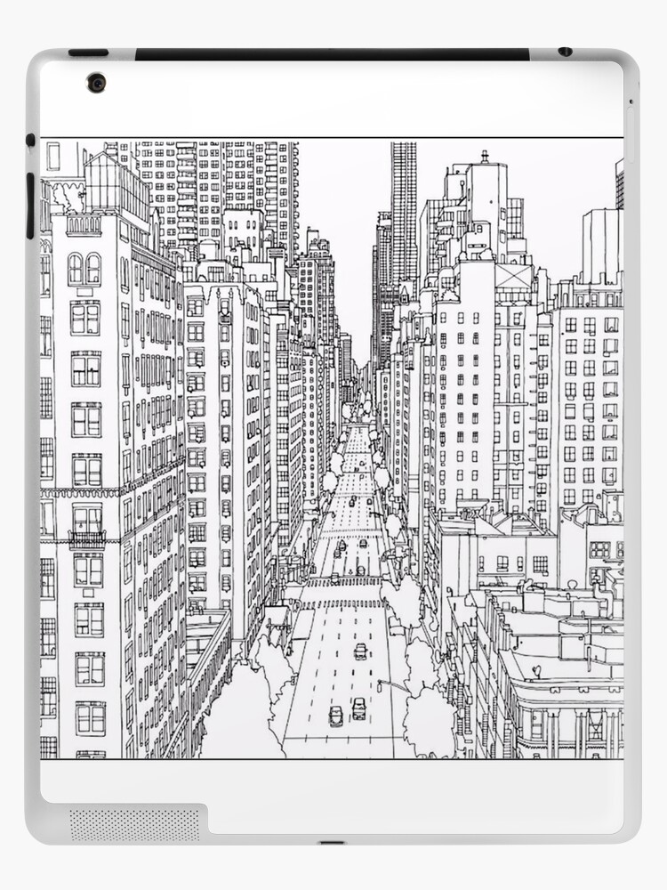 Adult Coloring Pages New York Ipad Case Skin By Yuna26 Redbubble