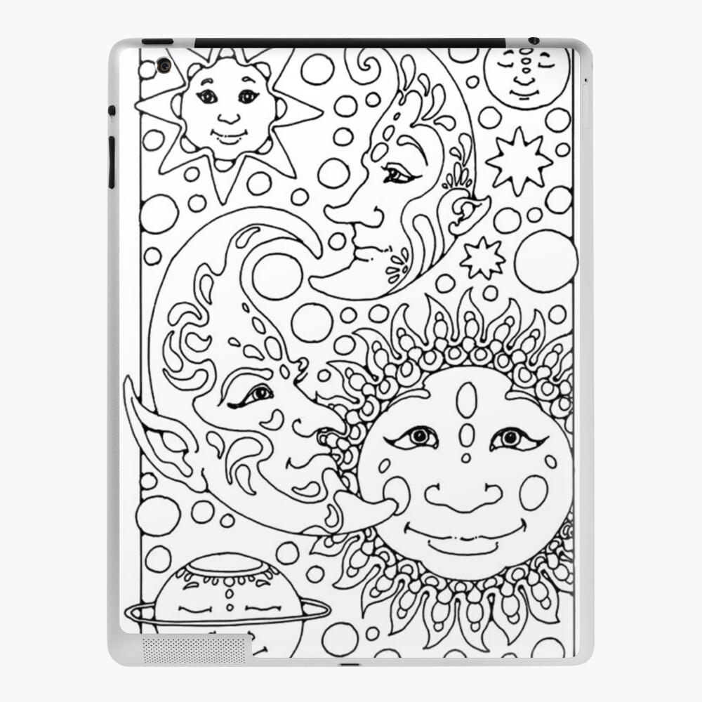 Adult Coloring Pages Astres Ipad Case Skin By Yuna26 Redbubble