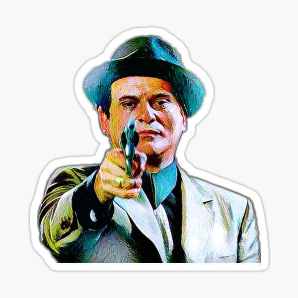Joe Pesci mafia gangster movie Goodfellas painting Sticker