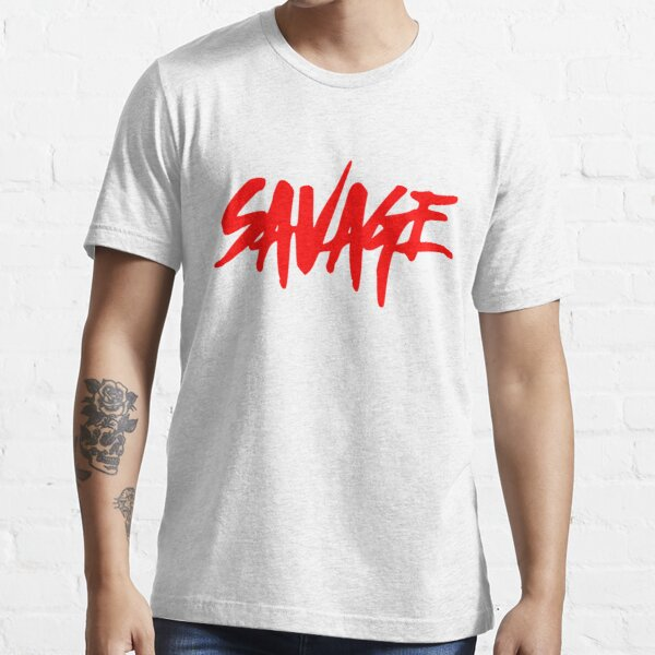 Savage Red - Text Essential T-Shirt