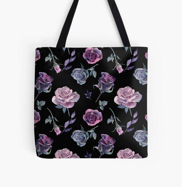 Dark Garden All Over Print Tote Bag