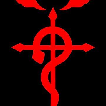 Fullmetal Alchemist Logo Red by KewlZidane
