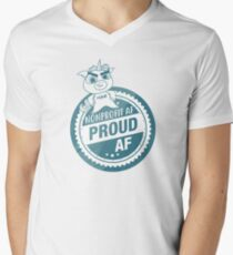 Nonprofit AF, Proud AF Men's V-Neck T-Shirt