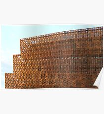 The Golden Lattice Of The National Museum Of African American History And Culture Poster