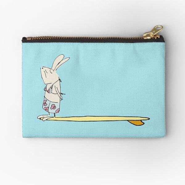 girl surf bunny Zipper Pouch