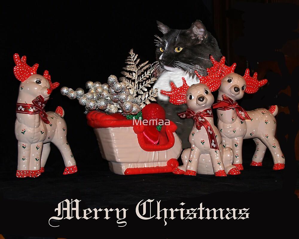 Pyewacket's Christmas Reindeer by Memaa