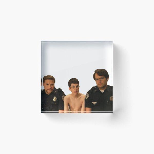 Superbad - Police and McLovin Acrylic Block