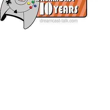 Dreamcast Talk 10th Anniversary Orange Swirl by Dreamcast-Talk