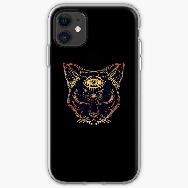 Egyptian Cat with Third Eye Open iPhone Soft Case