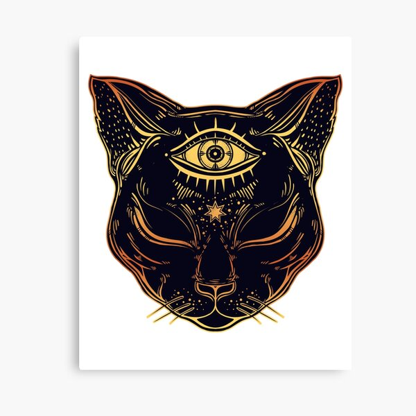 Egyptian Cat with Third Eye Open Canvas Print