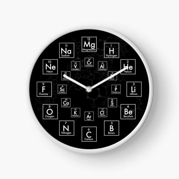 PERIODIC TABLE OF ELEMENTS - 24 HOUR Clock