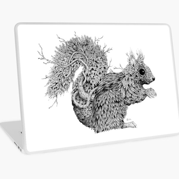 Leaf Squirrel Laptop Skin