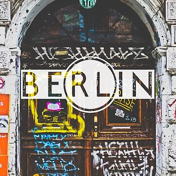Berlin Grafitti Typography Print by AndAndy