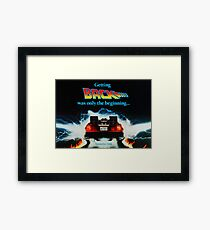 Back To The Future 2 Teaser Framed Print