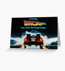 Back To The Future 2 Teaser Greeting Card