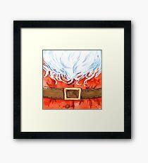 Watercolor Santa Claus Framed Print
