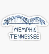 Pegatina Memphis, Tennessee
