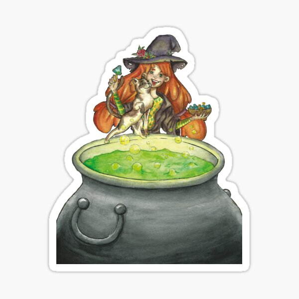 Ginger and Bread cooking potions Sticker