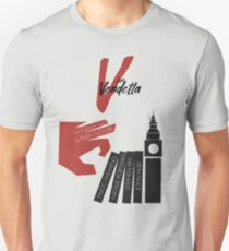 V for vendetta, minimal movie poster, with Natalie Portman, Stephen Fry, film based on the graphic novel by Alan Moore on Guy Fawkes Unisex T-Shirt