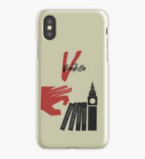V for vendetta, minimal movie poster, with Natalie Portman, Stephen Fry, film based on the graphic novel by Alan Moore on Guy Fawkes iPhone Case/Skin