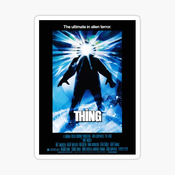 The Thing Sticker By Oldposters Redbubble