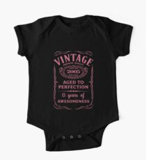 Pink Vintage Limited 2005 Edition - 13th Birthday Gift (2018 Birthday Version) One Piece - Short Sleeve