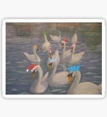 Nene Swans Christmas Party Sticker