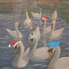 Nene Swans Christmas Party by Peter Lythgoe